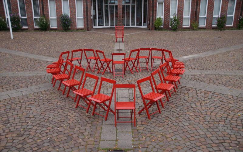 Kommunalwahl 2020 – Herz – Eine Installation des Künstlers LUPUS