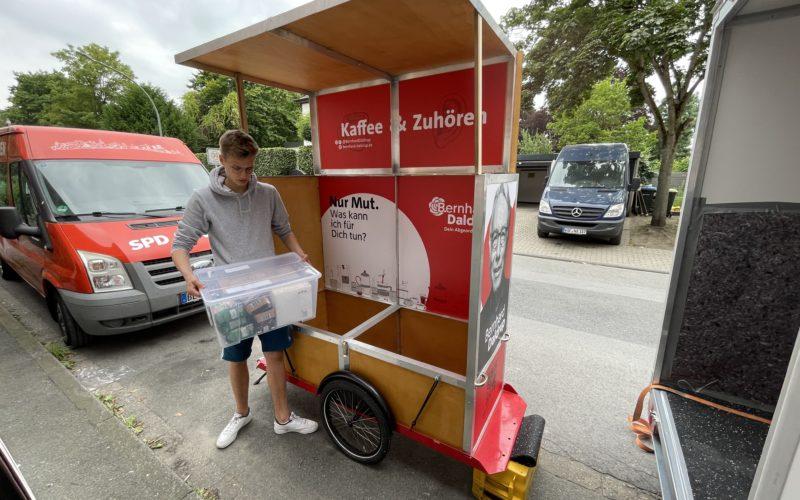 Der Endspurt der Vitus-SPD für die Bundestagswahl auf dem Wochenmarkt